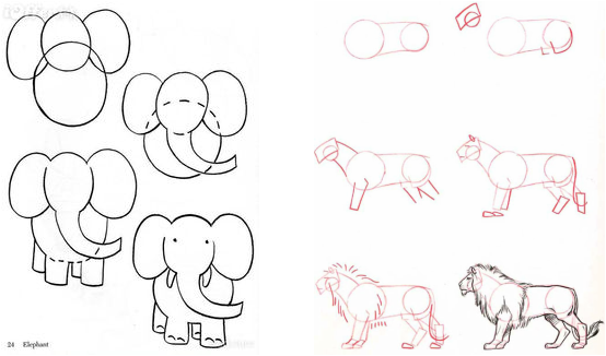 Learn To Draw Animals Using Shapes Make Pictures